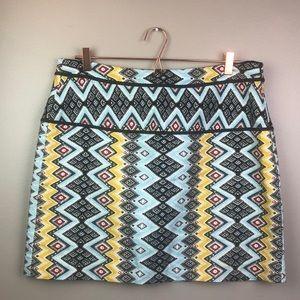 Loft 12 Aztec Print Skirt